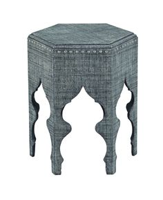 Unique upholstered side table from the Hidden Treasures collection by Hammary. New for #hpmkt Spring 2015.
