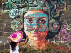 """#mural #adrydelrocio """"Teotihuacana"""" 2017 by adrydelrocio  #rhinesidegallery #Krefel"""