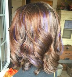 purple babylights for light brown hair. These fine thine sections, but underneath rather than all over