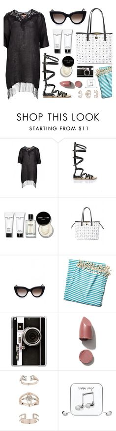 """""""Beach Ready"""" by firstboutique ❤ liked on Polyvore featuring Ermanno Scervino, Bobbi Brown Cosmetics, Turkish-T, Casetify, Topshop and Happy Plugs"""