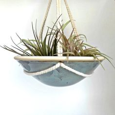 Ceramic Hanging Planter Hanging Indoor Pottery Dish by ZozPots