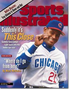 Today in 1996, Sammy Sosa is 1st Chic Cub to hit 2 HRS in 1 inning.