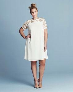 Lovedrobe Lace Top Swing Dress | Simply Be