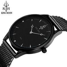 >> Click to Buy << KING HOON watch men 40mm 2017 Hot Stainless Steel Strap Slim Simple Waterproof Quartz Watch Rose Gold/Black/Silver men watch #Affiliate