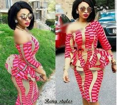 Classy picture collection of Beautiful Ankara Skirt And Blouse Styles These are the most beautiful ankara skirt and blouse trending at the moment. If you must rock anything ankara skirt and blouse styles and design. Unique Ankara Styles, Ankara Short Gown Styles, Short Gowns, Ankara Gowns, Latest Ankara Styles, Ankara Dress, Ankara Fabric, Dress Styles, Blouse Styles