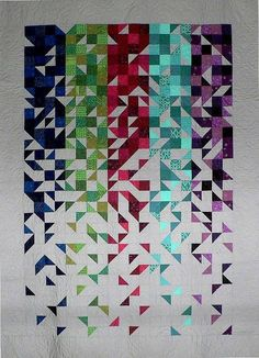 "Shattered - 57 1/2"" x 80"". A Kit by Mill House Quilts."