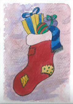 postcard, illustration, watercolor