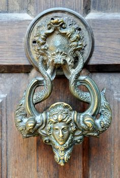 Beautiful 1858 Romanian door knocker,