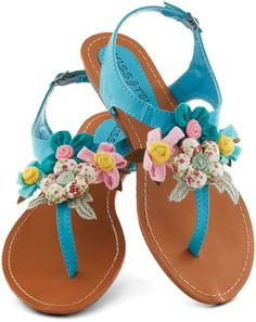 Modcloth Crafty Afternoon Sandal Teal Blue... Yes, I have another pair in orange... Super cute!