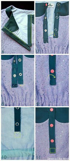 Sewing Like Mad: What would Celina do? + Classic Button Placket Tutorial.