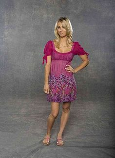 Kaley Cuoco Standing in a Blank Studio