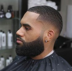 Modern Black Men Beard Styles Ideas For You 11 Black Men Haircuts, Black Men Hairstyles, Hairstyles Haircuts, Crazy Hairstyles, Baddie Hairstyles, Celebrity Hairstyles, Wedding Hairstyles, Low Fade Haircut, Beard Haircut