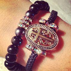 Cross bracelet set by AroundMyWrist on Etsy, $ 17.85