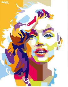 Marilyn Monroe by bennadn on DeviantArt - Marilyn Monroe by bennadn. Geometric Art, Pop Art Portraits, Art Painting, Marilyn Monroe Painting, Art Drawings, Wpap Art, Pop Art Painting, Portrait Painting, Portrait Art