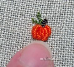 How to Embroider a Wee Pumpkin, in less than 5 minutes – Needle'nThread.com