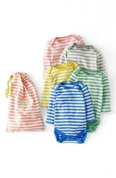 Mini Boden Bodysuit (5-Pack) (Baby Girls)   Nordstrom
