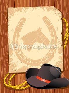 Western background by GeraKTV - Stock Vector
