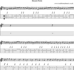 Music Score and Guitar Tabs for Sweet Fern