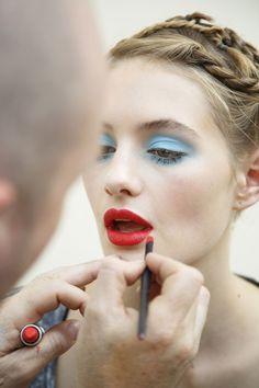 "fay-wray: "" Backstage at Emanuel Ungaro Spring/Summer 2015 """