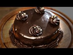Chocolate Cake With Frosting | Easy Chocolate Dessert Cake Recipe | Beat Batter Bake With Priyanka - YouTube