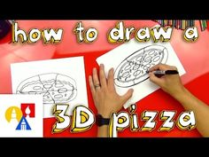 I'm getting very very hungry! Grab a marker and learn how to draw a pizza with us! Art For Kids Hub, Art Hub, Pizza Kunst, Projects For Kids, Art Projects, Pizza Craft, Third Grade Art, Pizza Day