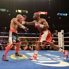 Floyd Mayweather Jr. - hate him or love him you got to respect the boxing skills ....wish he would of been more active during his career but he's always had his hands issues....in any case I respect the gym rat status, and if he ever fights manny my money is definitely on the moneyteam!