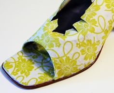 DIY: Decoupage your Shoes- although I don't like any of the shoes the tutorial is very easy to follow