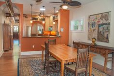 Large dining room and breakfast bar