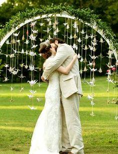 Оригинальная арка для свадьбы