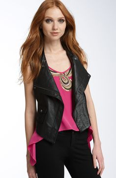 Trina Turk 'India' Washed Leather Vest size 4 at Swap BR for $54.99!