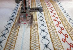 Make a Scandinavian-inspired apron with your machine's decorative stitches :: I've always wanted to use some of those!