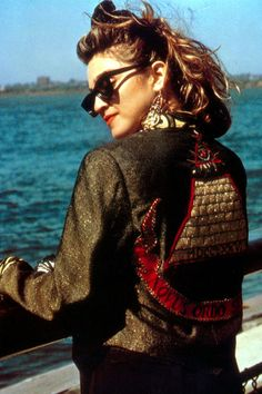 While it's probably best to leave the lace gloves and hair bows in the '80s, Madonna's embellished jacket from Desperately Seeking Susan is back this season in the form of printed, patterned and embroidered bomber jackets.