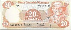 NICARAGUA - CÉDULA DE 20 CORDOBAS ANO 1979 PEÇA FLOR DE ESTAMPA - PEÇA EM EXCELENTE ESTADO DE CONS