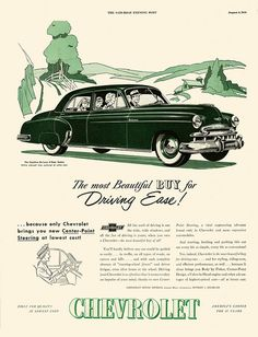 A Sunday Drive In The Country | Flickr - Photo Sharing!; Vintage car ad.