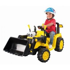 Little Tikes 12v Kids Ride On Toy Tractor With Digger
