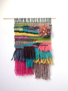 woven wall hanging/ tapestry/ wool art by ColorBoxWeaving on Etsy Woven Wall Hanging, Tapestry Wall Hanging, Colorbox, Wool Art, Loom Weaving, Weaving Techniques, Decorative Items, Fabrics, Texture