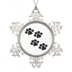 Pets Paw Prints Christmas Holiday Ornaments For Cat and Dog Owners We Love Our Pets