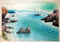 The Chikuma River in Early Summer  by Ito Shinsui, 1948  (published by Watanabe Shozaburo)