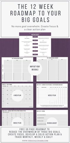 Earn Money from Home Writing Articles - The 12 Week Roadmap To Your Big Goals via Gem Goal Chaser Free Printable Worksheets, Printable Planner, Free Printables, Earn Money From Home, How To Make Money, Printables Organizational, Amazing Goals, It Management, Behavior Management