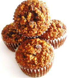 Coconut Flour Carrot Oatmeal Muffins (Gluten Free)