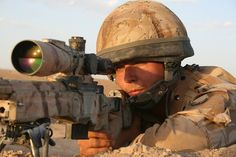 British army sniper in Helmand by jeromestarkey, via Flickr
