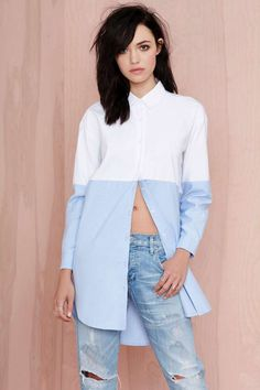 Nasty Gal Block It Shirtdress | Shop Tops at Nasty Gal