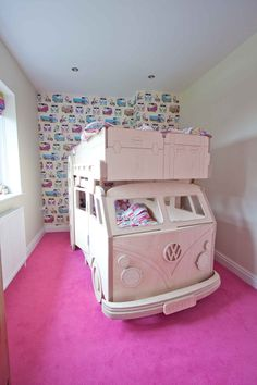 VW Camper Bunk bed in situ by Fun Furniture Collection, Home of Luxury Handmade…