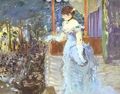 Singer at a Café-Concert, Oil by Edouard Manet (1832-1883, France)/