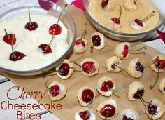 ~Cherry Cheesecake Bites!