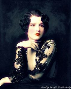 This has been colorized and it is beautiful. Jean Ackerman - Ziegfeld Follies Girl - Performed in the Ziegfeld Follies of 1927, the Ziegfeld Midnight Frolic of 1929, and in Ziegfeld's musicals Rosalie, Whoopee 1928 and Smiles 1930 - @Mlle