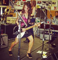 """J's Instagram photo: """"The Bangles, Tower Records August 2002 #susannahoffs @susannahoffsofficial @officialthebangles #thebangles #rickenbacker"""" Susanna Hoffs, Tower Records, Rock And Roll, Bangles, Punk, Stars, Instagram, Fashion, Bracelets"""