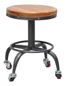 For a functional and rustic accent piece, look no further than the Pangea Home Gary Adjustable Height Stool . This stool features a sturdy metal. Affordable Modern Furniture, Contemporary Furniture, Adjustable Stool, Vanity Stool, Wood Accents, Accent Furniture, Elle Decor, Wood And Metal, Accent Pieces