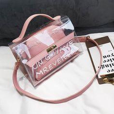 305a7e201 Bolsa Feminina Sacos Transparentes Carta Ombro Praia Mensageiro La MaxZa Bolsa  Feminina Preta, Acessórios De