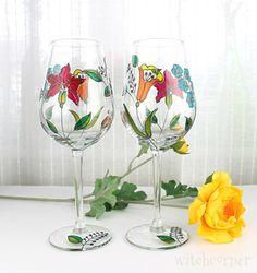 Wine Glasses Toasting Glasses Wedding Glasses by witchcorner https://www.etsy.com/treasury/NTM5ODkzNXwyNzI0NzIzMTYx/family-tradition